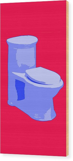 Wood Print featuring the painting Toilette In Blue by Deborah Boyd