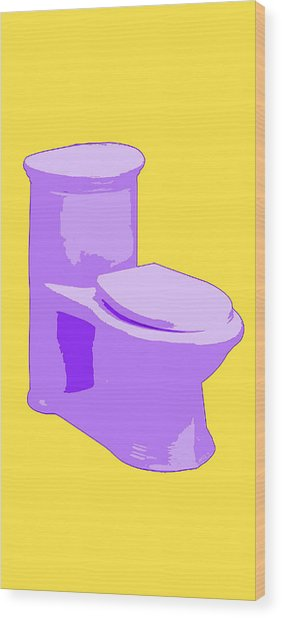 Toilette In Purple Wood Print