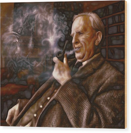 Tolkien Daydreams Wood Print