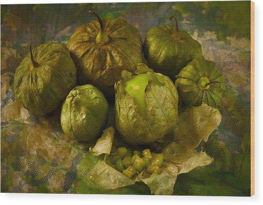 Tomatillos3656 Wood Print