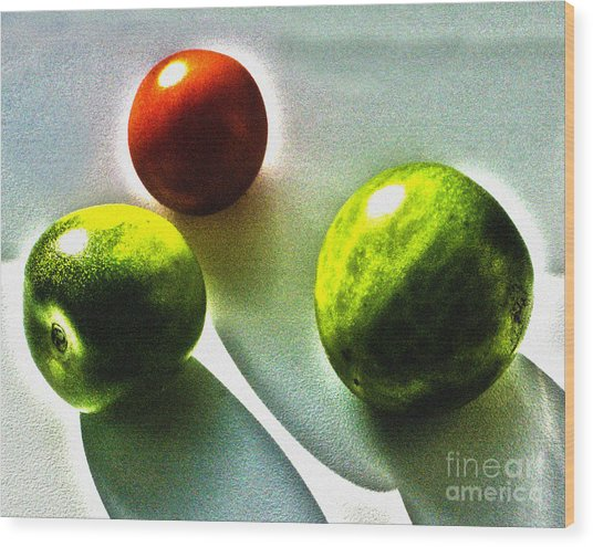 Tomato Phases Wood Print by Kim Lessel