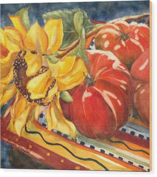 Tomatoes II Wood Print