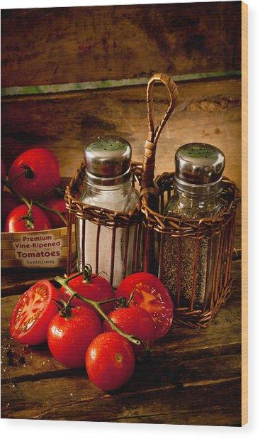 Tomatoes3676 Wood Print