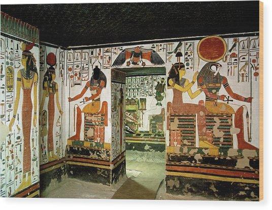 Tomb Of Queen Nefertari Wood Print