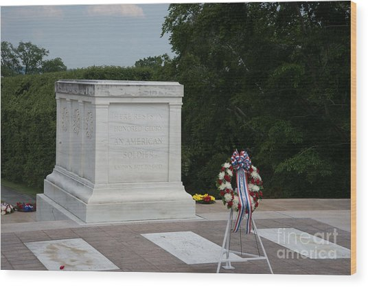 Tomb Of The Unknown Soldier Wood Print