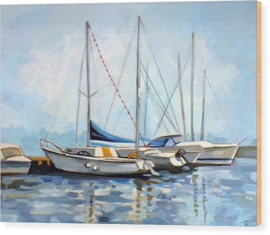 Tomis Harbor Wood Print by Filip Mihail