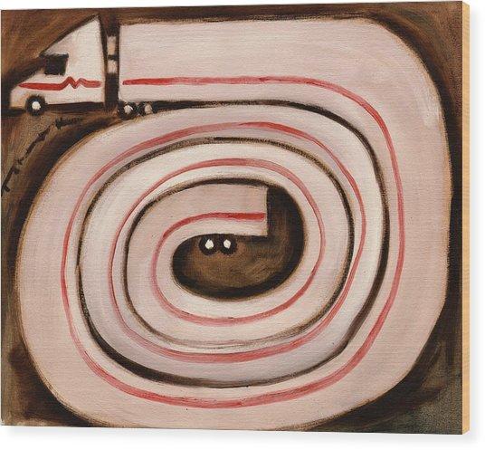 Tommervik Semi Snake Art Print Wood Print