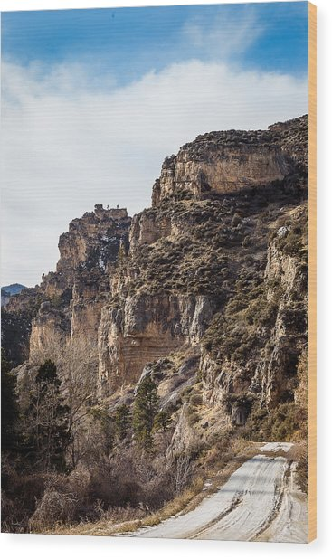 Tongue River Canyon Wood Print