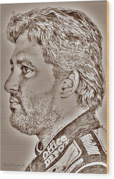 Tony Stewart In 2011 Wood Print