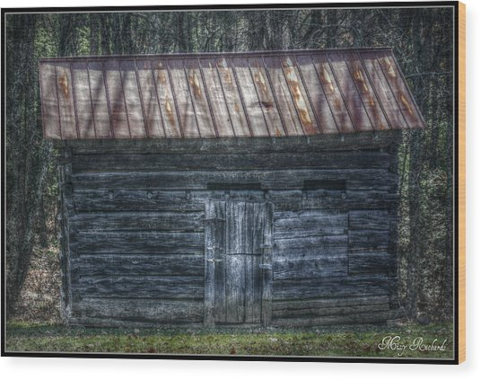 Tool Shed Wood Print by Missy Richards