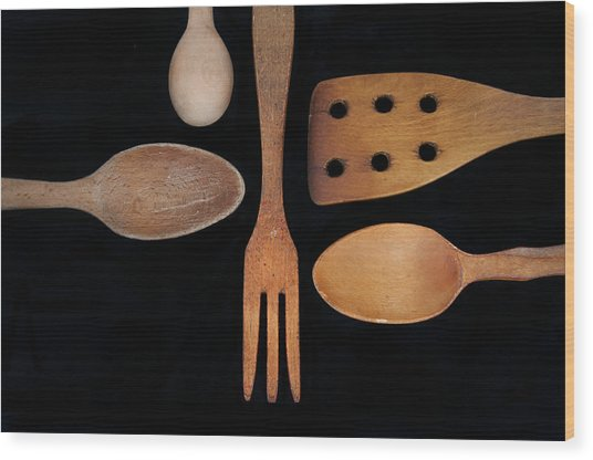 Tools Of The Trade Wood Print by Beth Achenbach
