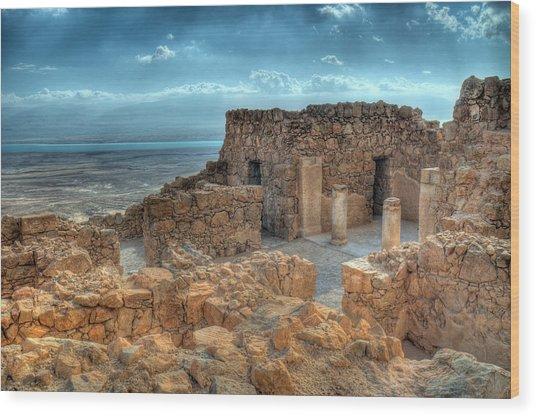 Top Of Masada Wood Print