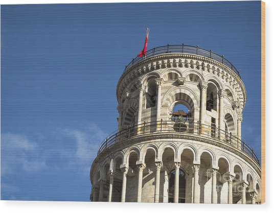 Top Of The Leaning Tower Of Pisa Wood Print
