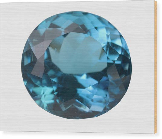 Topaz Gem Wood Print by Science Stock Photography/science Photo Library