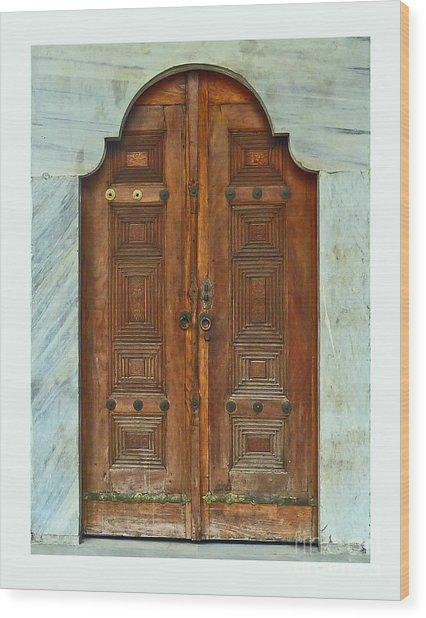 Topkapi Palace Door Istanbul Wood Print