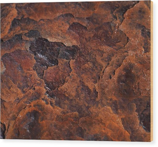 Topography Of Rust Wood Print