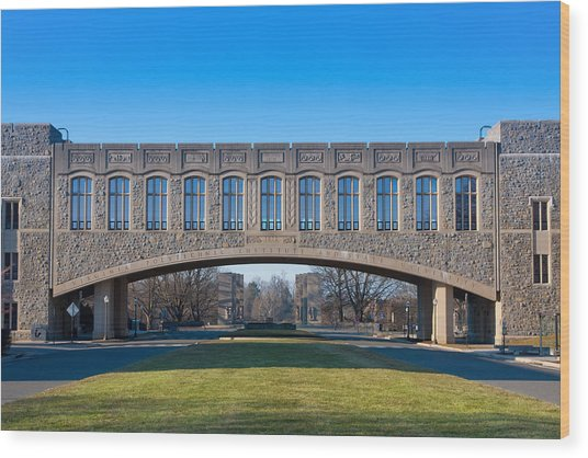 Torgersen Hall At Virginia Tech Wood Print