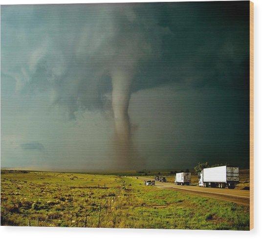Tornado Truck Stop II Wood Print