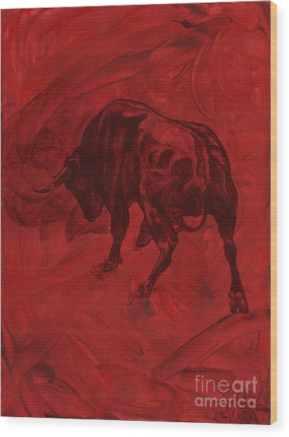 Toro Painting Wood Print