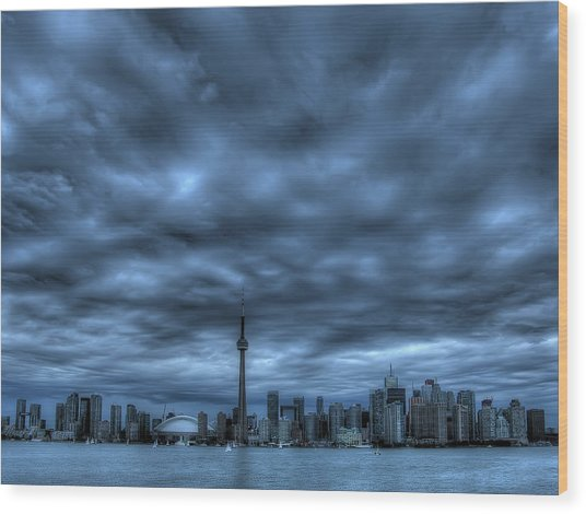 Toronto Blue Wood Print by Max Witjes