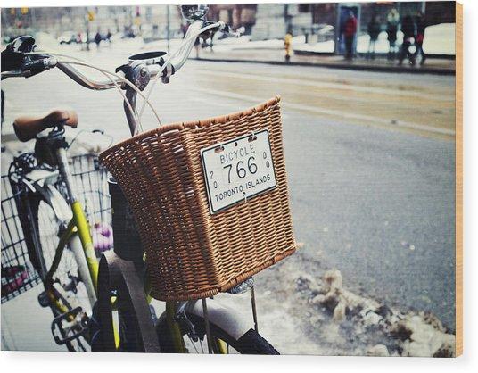 Toronto Islands Bicycle Wood Print by Tanya Harrison