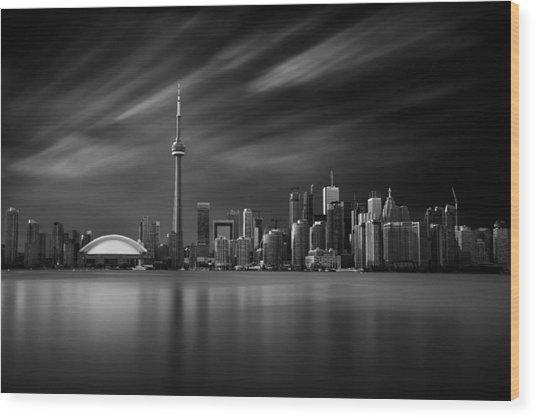 Toronto Skyline - 8 Minutes In Toronto Wood Print