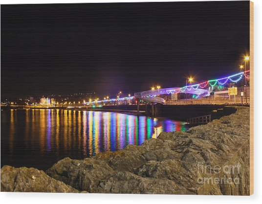 Torquay Lights Wood Print