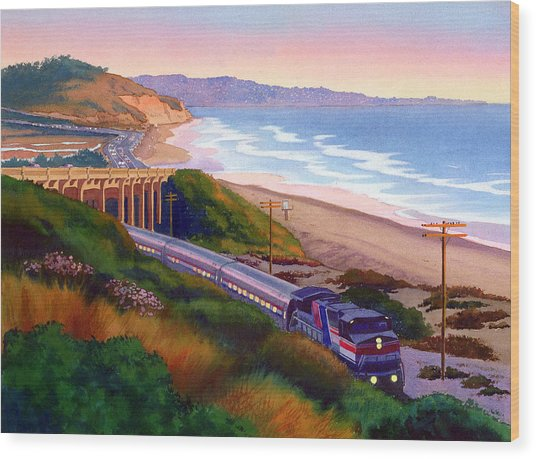 Torrey Pines Commute Wood Print