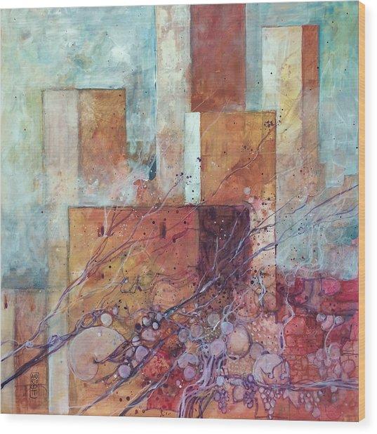 Torri Antiche Pietre E Uva Wood Print by Alessandro Andreuccetti