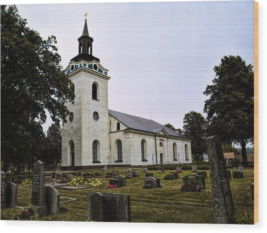 Torstuna Kyrka Church Wood Print