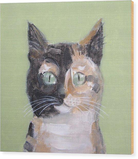 Tortie Cat Wood Print