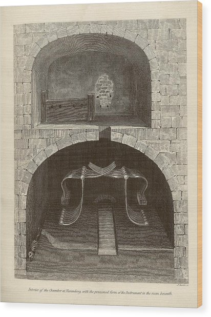 Torture Chambers Wood Print by Middle Temple Library