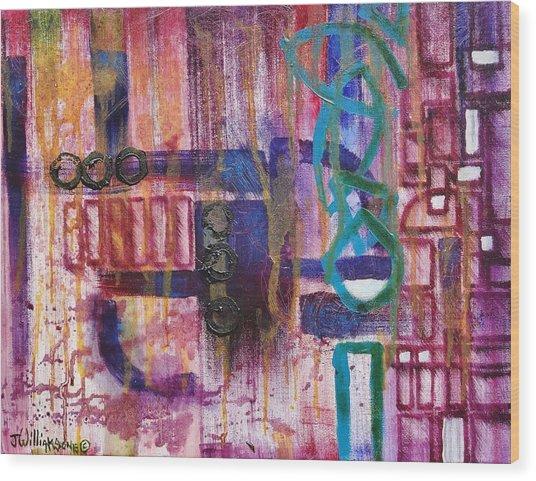 Tortured Links Wood Print