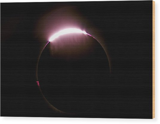 Total Solar Eclipse Wood Print by Don Sabers/rev. Ronald Royer/science Photo Library