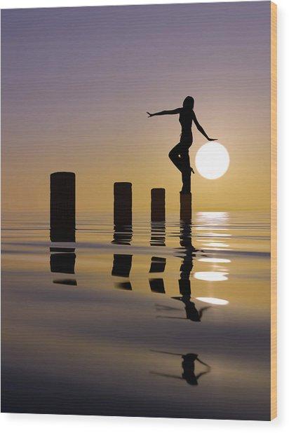Touch My Sun Wood Print by Mustafa Celikel