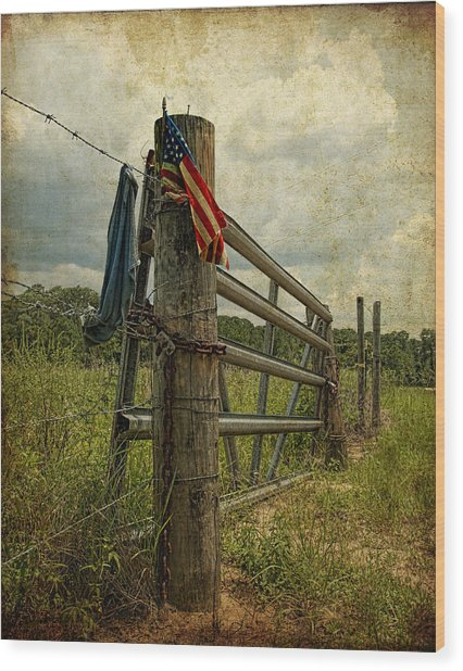 Touch Of Americana Wood Print