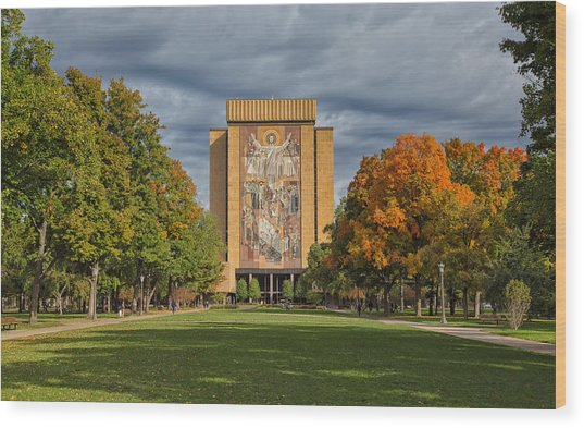 Touchdown Jesus Wood Print