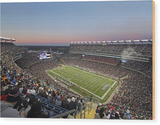 Touchdown New England Patriots  Wood Print
