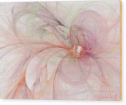 Wood Print featuring the digital art Touched By An Angel by Sipo Liimatainen