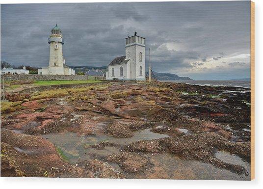 Toward Lighthouse  Wood Print