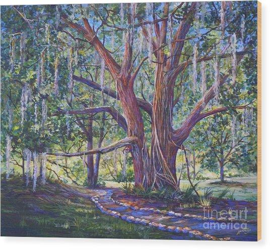 Towards Indian Mound Wood Print