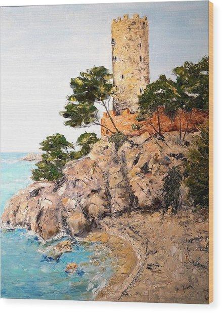 Tower At Playa De Aro Wood Print