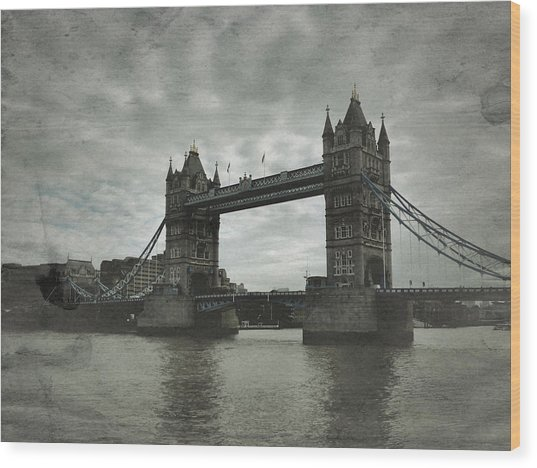 Tower Bridge In London Over The Thames Wood Print