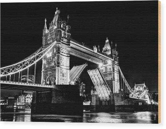 Tower Bridge Opening Wood Print