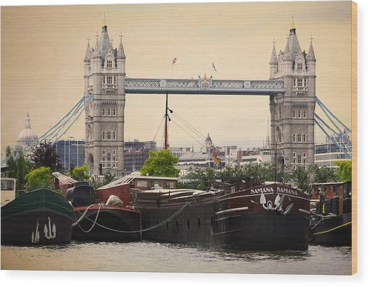 Tower Bridge Wood Print by Stephen Norris
