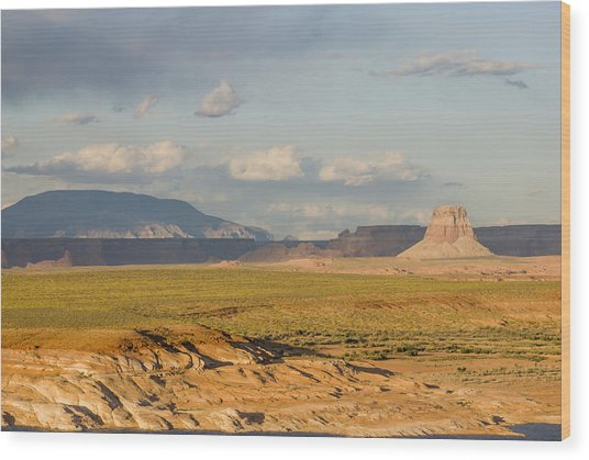 Tower Butte View Wood Print