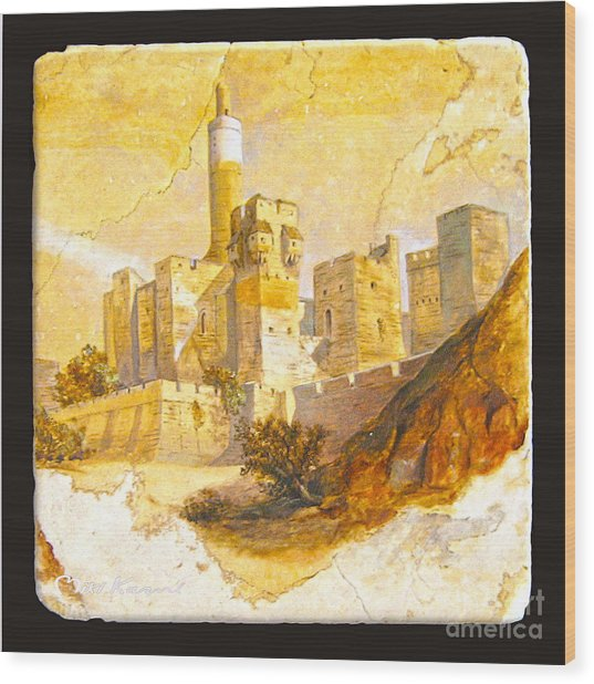 Tower Of David Wood Print