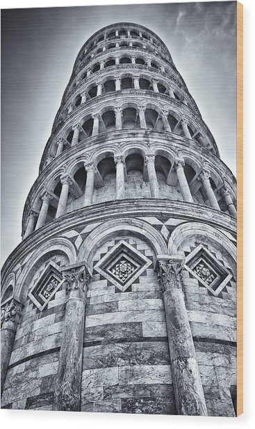 Tower Of Pisa Wood Print