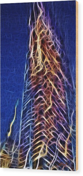 Towering Inferno Wood Print
