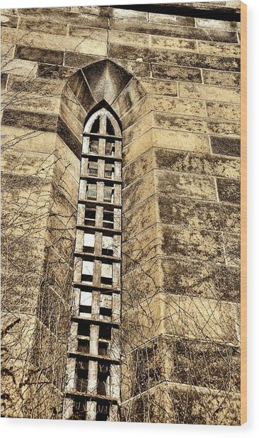 Towering Prison Wood Print by JAMART Photography